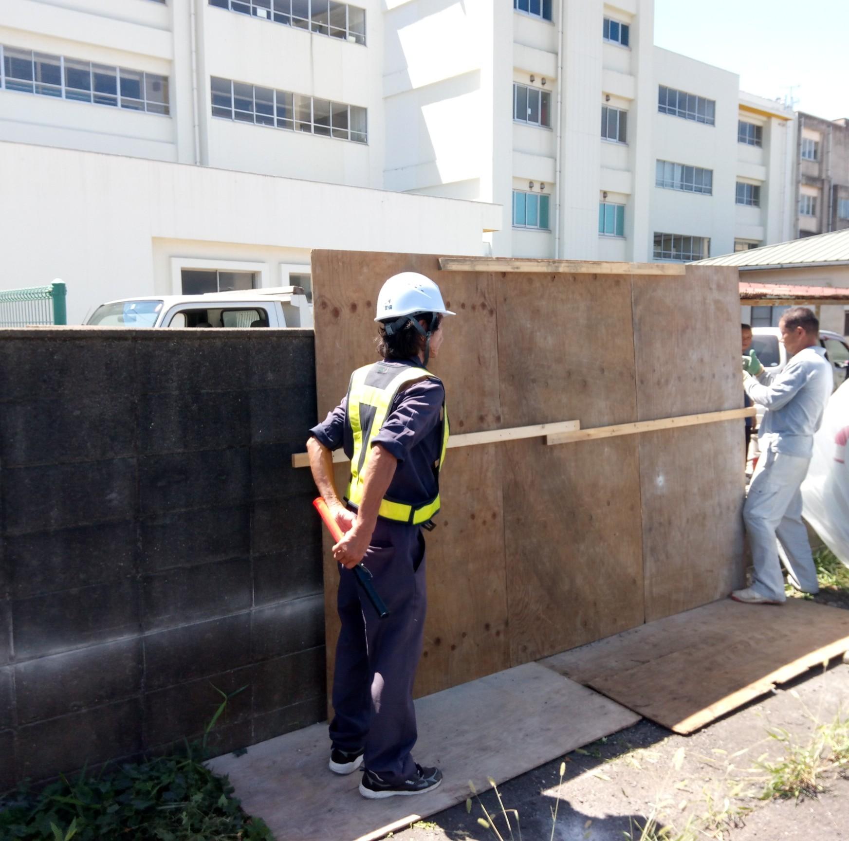 東深井小学校北側のコンクリート撤去改修工事